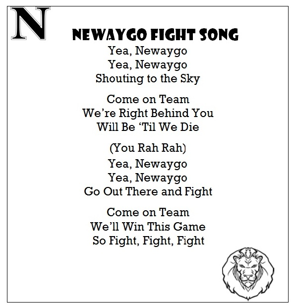 Newaygo Fight Song with Border 2